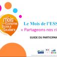 Mois de l'ESS 2017: Guide du participant