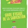Le guide d'usage de la subvention est sorti !