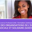 Inscriptions- Licence Professionnelle en Gestion des Organisations de l'Economie Sociale & Solidaire