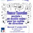 Conférence-débat : Financer l'innovation sociale